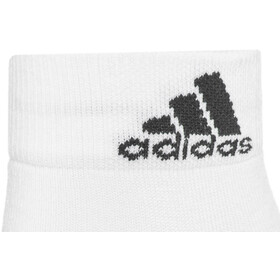 adidas Performance Thin 3PP Ankle Socks Unisex white/white/black